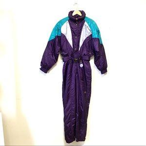 Descente Ski Suit One Piece Vintage Purple 80's